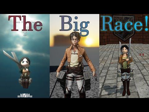 Attack On Titan Fan/Tribute Racing: Feng Lee Vs Guedin Vs Roark