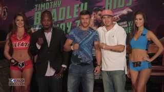 Timothy Bradley will face Brandon Rios November 7th at the Thomas & Mack Center.