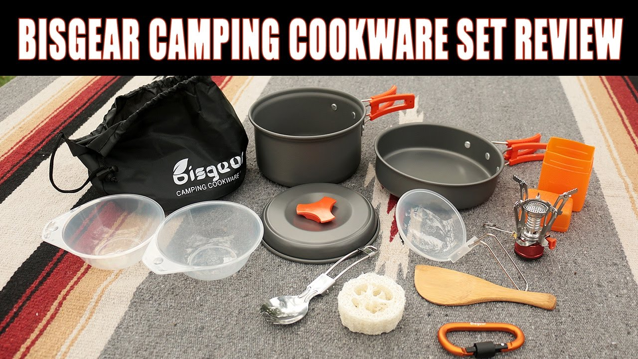 Bisgear Camping Cookware as well as Stove set