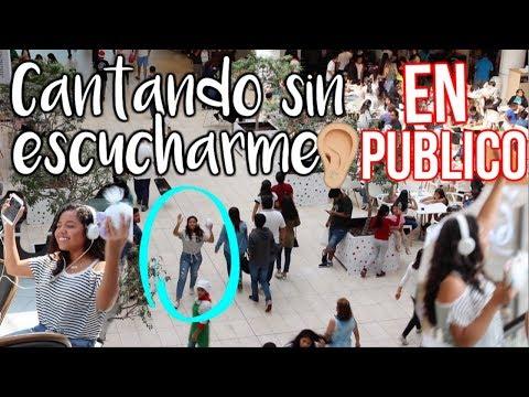 CANTANDO SIN ESCUCHARME EN PÚBLICO CON SHNOOK ! Johanna De La Cruz