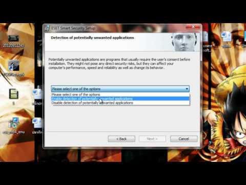 วิธีการติดตั้ง Antivirus Nod32 V5