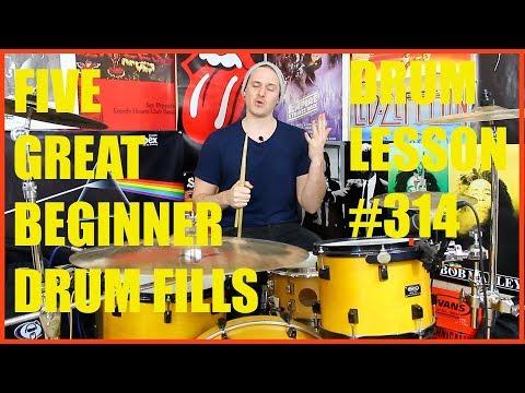 Five Great Beginner Drum Fills - Drum Lesson #314