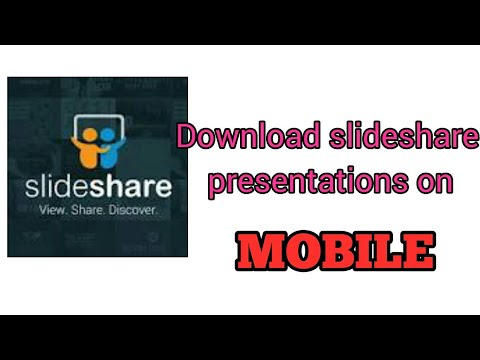 How to download slideshare ppt in mobile - YouTube