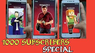 I GOT A CALL FROM MICHAEL, ALEX & RICHIE | 1000 SUBSCRIBERS SPECIAL VIDEO | GamerzZuana