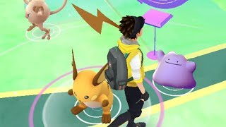 HUNTING FOR DITTO! Wild Raichu Spawned Nearby While Searching for Ditto!