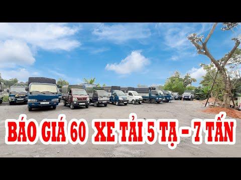 BÁO GIÁ NHANH 60 xe tải nhẹ từ 5 tạ đến 7 tấn THACO TRƯỜNG HẢI Mới về salon ĐẠT XE TẢI