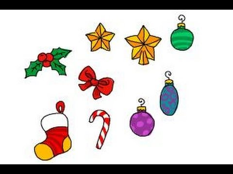 How to draw Christmas decorations - YouTube