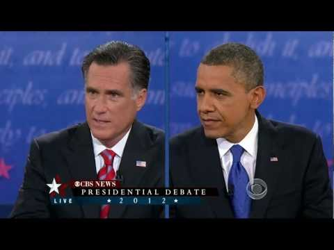 (3/3) Complete Final Presidential Debate Barack Obama And Mitt Romney 2012 HD CBS News Coverage.