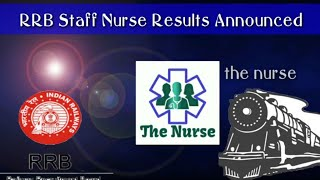 RRB Staff Nurse Results Announced 🔥🔥