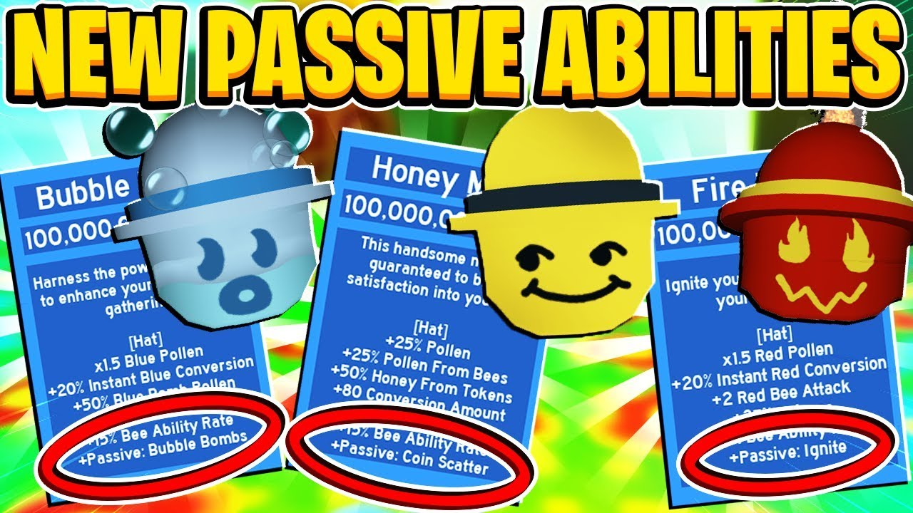 New Passive Abilities For Honey Mask Fire Mask Bubble Mask In