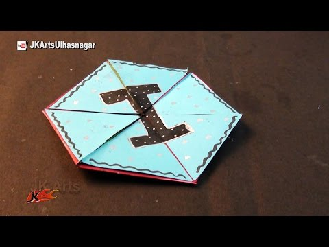 Hexagon Endless Card for Scrapbook | How To Make An Endless Love Valentine Card | JK Arts 1019