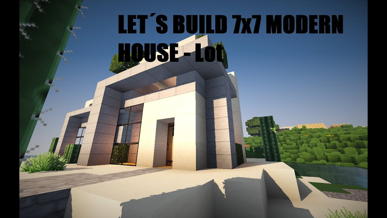 minecraft how to build small modern house 7x7 lot youtube