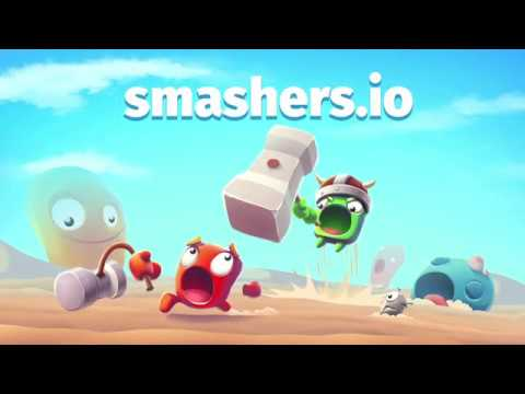 Smashers.io Foes in Worms Land (New io game by Clown Games)