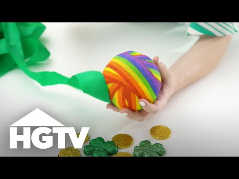 Unwrappable St. Patrick's Day Surprise Balls - HGTV