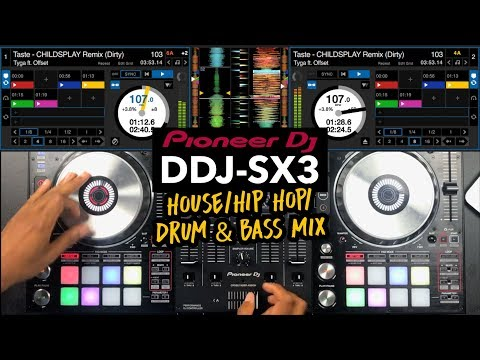 Pioneer DDJ SX3 - House / Hip Hop / Drum & Bass Mix - #SundayDJSkills