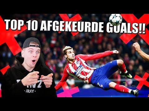 TOP 10 MOOISTE AFGEKEURDE GOALS OOIT IN VOETBAL!!