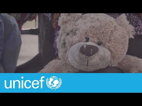 Uprooted by violence: A toy's story | UNICEF