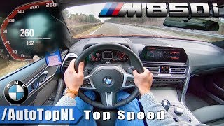 BMW 8 Series M850i xDrive AUTOBAHN POV 260km/h TOP SPEED by AutoTopNL