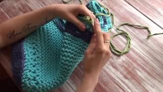 Урок № 6 Как обвязать край сумки рачьим шагом