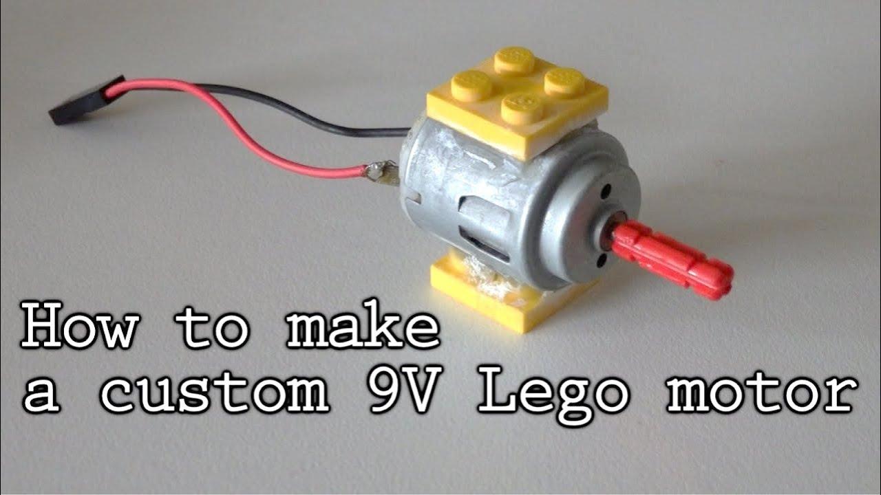 How to make a custom 9v lego motor youtube for How to create a motor