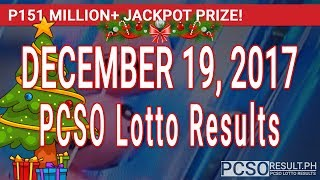 PCSO Lotto Results Today December 19, 2017 (6/58, 6/49, 6/42, 6D, Swertres, STL & EZ2)