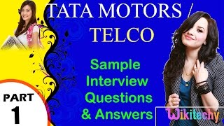 tata motors   telco important interview questions and answers for freshers