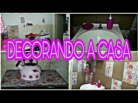 DECORANDO A COZINHA E O BANHEIRO COM ITENS FOFOS + TOUR ATUALIZADO