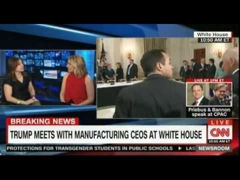 President Trump meets with manufacturing CEOS at the White House part 1