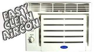 Easy way to clean window type aircon