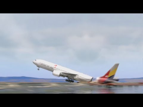 Boeing 777 Crash in San Francisco - Asiana Airlines Flight 214 - XP11