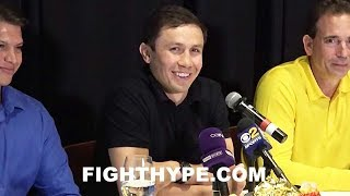 GOLOVKIN GIVES SINISTER SMILE AT CANELO KNOCKOUT THOUGHT; INSISTS NOT LEAVING FIGHT TO JUDGES