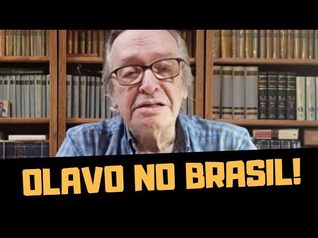 URGENTE! OLAVO DE CARVALHO ESTÁ NO BRASIL!