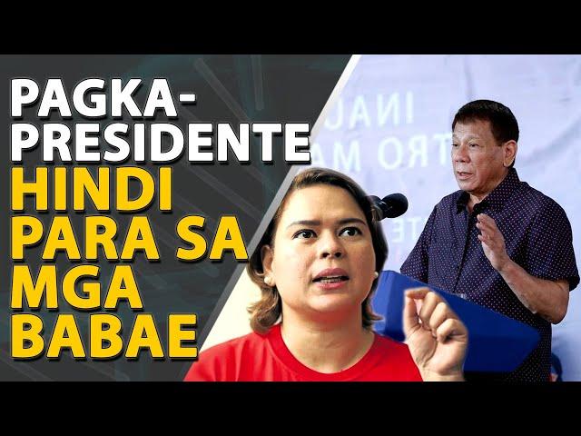 Bakit hindi tatakbo sa pagkapresidente si Mayor Sara Duterte?
