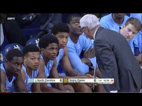 #2 North Carolina vs Notre Dame 2016 (Basketball Full Game)