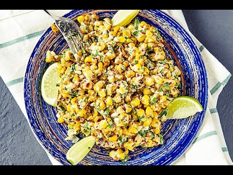 Grilled Corn and Zucchini Salad With Chickpeas