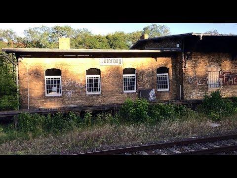 DEUTSCHE BAHN Graffiti covered Nazi and Soviet era Military base train station at Juterbog, Germany