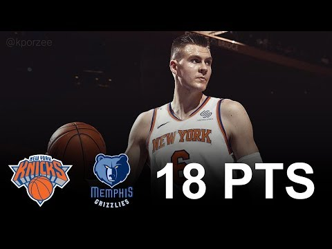 Kristaps Porzingis Full Highlights 2017.12.06 vs Grizzlies - 18 Pts, 5 Reb