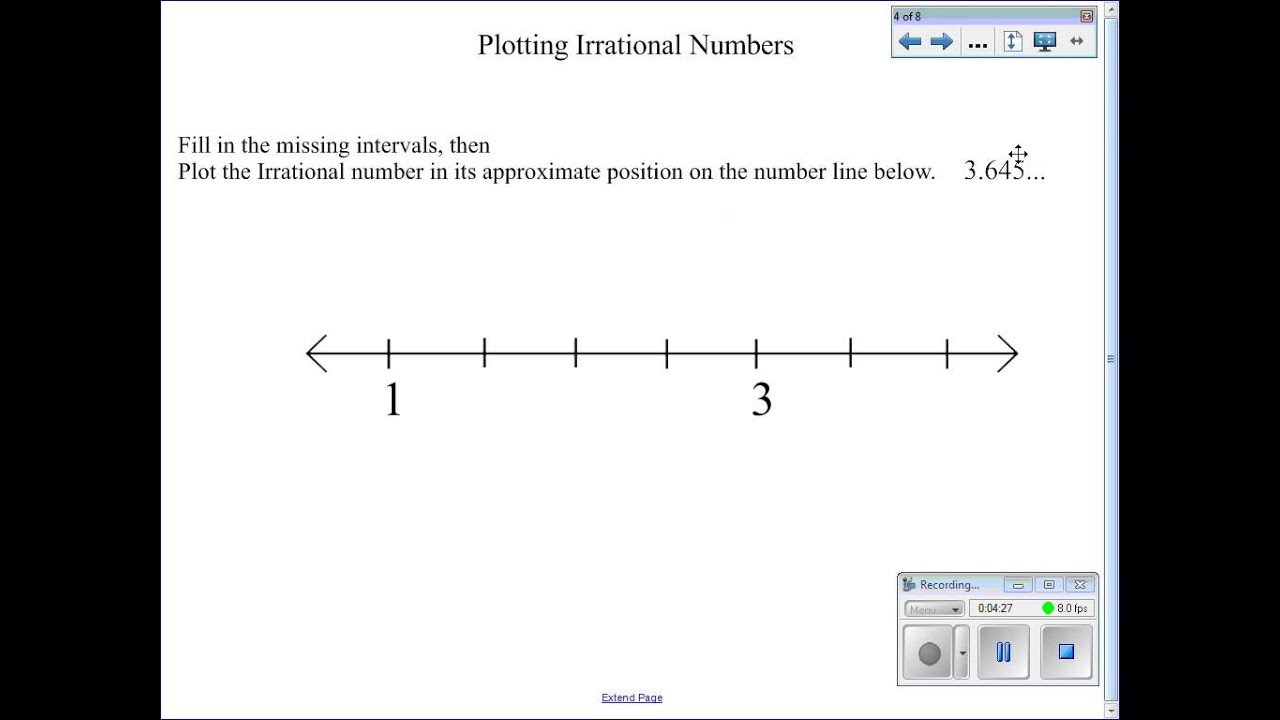 Worksheets Rational And Irrational Numbers Worksheets plotting irrational numbers on a number line youtube