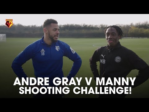 ANDRE GRAY VS MANNY | SHOOTING CHALLENGES (WATFORD FC VS LIVERPOOL FC)