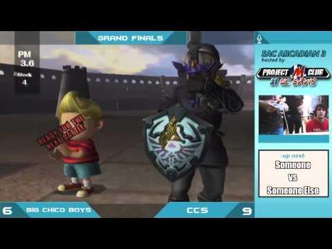 """Sac Arcadian 3"" - Big Chico Boys (Fox/Link/Mario) v. CCS (Lucas/CF) - Grand Finals"