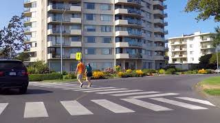 Driving in Victoria City - British Columbia (BC) Canada - Coast & Houses/Property