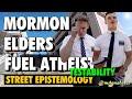 Street Epistemology: Mormon Elders Fuel Atheist (Testability)