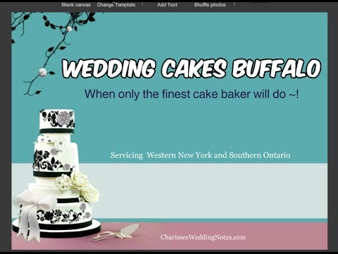 Wedding Cakes Buffalo ~ Choose the Cake of Your Dreams from a Master Cakemaker!