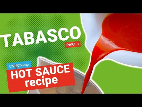 Make your own homemade Piri Piri Tabasco Sauce Part 1 (Bonus! How to make a fermenting jar)