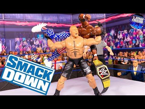KOFI KINGSTON VS BROCK LESNAR WWE CHAMPIONSHIP ACTION FIGURE MATCH! SMACKDOWN!