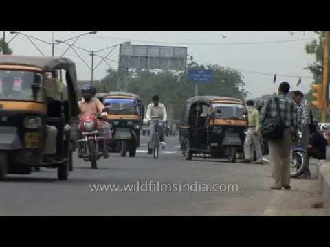 Passengers travel by sharing autos - Faridabad