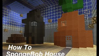 How To Build a SpongeBob House (SpongeBob Minecraft) - Minecraft Ninja