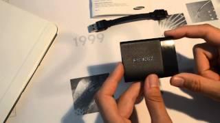 Ein erstes Testvideo zur brandneuen Samsung Portablen SSD T1 !!!