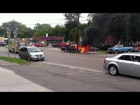 Car Fire Lincoln town car Montour Falls New York