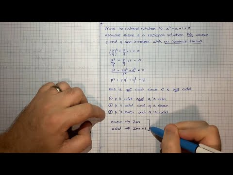 How to prove that there is no rational solution to the equation x^3 + x + 1 = 0